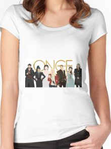 Once Upon A Time Main Cast Women's Fitted Scoop T-Shirt