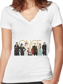 Once Upon A Time Main Cast Women's Fitted V-Neck T-Shirt