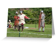 Medieval Fighters Greeting Card