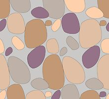 Pebble pattern in grey and purple tones (ipad case) by CClaesonDesign