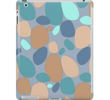 Pebble pattern in blue and beige tones (ipad case) iPad Case/Skin