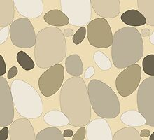 Pebble pattern in beige and sandy tones (ipad case) by CClaesonDesign