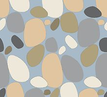 Pebble pattern in beige and blue tones (ipad case) by CClaesonDesign