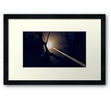 *DA MOONS SA PORT HOLE* Framed Print