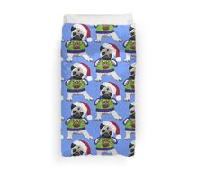 Super Cute Pug in an Ugly Sweater Duvet Cover