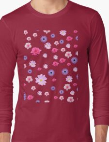 Mixture of Roses and Other Flowers Long Sleeve T-Shirt