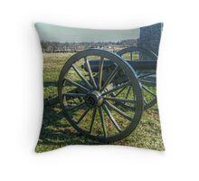 Cannons Lining Hancock Avenue Throw Pillow