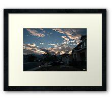 Neighborhood Sunrise Framed Print