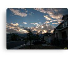 Neighborhood Sunrise Canvas Print