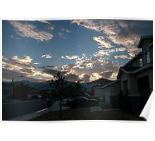 Neighborhood Sunrise Poster