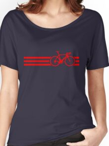 Bike Stripes Red Women's Relaxed Fit T-Shirt