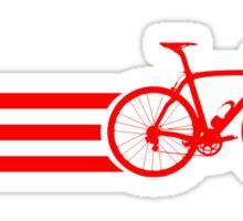 Bike Stripes Red Sticker