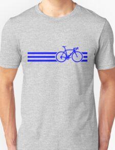 Bike Stripes Blue Unisex T-Shirt