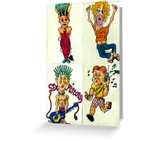 Rock Fans Four Greeting Card