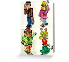 Rock Fans Five Greeting Card