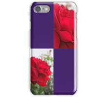 Red Rose Edges Blank Q9F0 iPhone Case/Skin