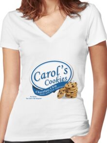 Carol's Cookies PG Women's Fitted V-Neck T-Shirt