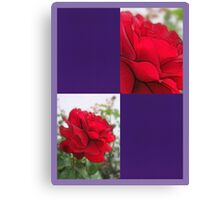 Red Rose Edges Blank Q9F0 Canvas Print