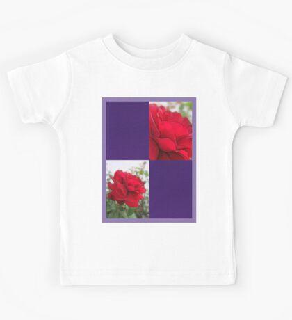 Red Rose Edges Blank Q9F0 Kids Tee
