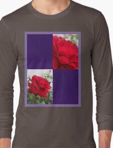 Red Rose Edges Blank Q9F0 Long Sleeve T-Shirt