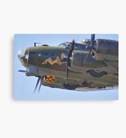 Sally B Thunders Past - Shoreham Airshow 2013 Canvas Print