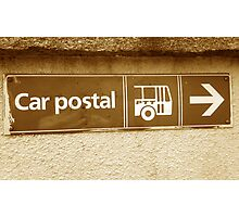 Car postal Photographic Print