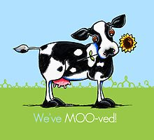 We've Moved Cow New Address Announcement by offleashart