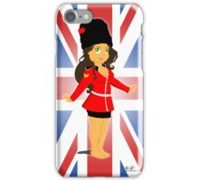 British Soldier Girl iPhone Case/Skin