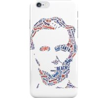 American Cities Names Abraham Lincoln Portrait Available On Prints / Cards / Cases / T-Shirt / Pillow / Tote Bag iPhone Case/Skin