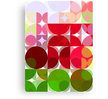 Red Rose Edges Abstract Circles 3 Canvas Print