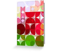 Red Rose Edges Abstract Circles 3 Greeting Card