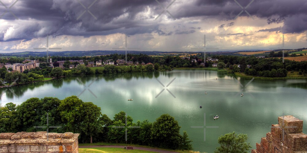 Storm Clouds over Linlithgow Loch by Tom Gomez
