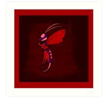 Cloud Bee Red Violet Art Print