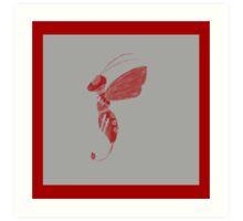 Cloud Bee Grey Art Print