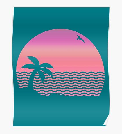 Wiped Out! Sunset Fade Poster