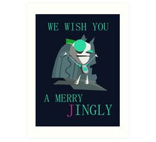 Gir's Christmas Wishes Art Print