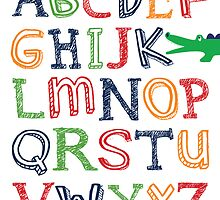 Alligator ABC Poster by friedmangallery