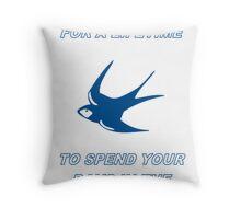 Cardiff City Oasis Lyrics Throw Pillow
