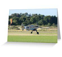Hispano HA-1112-M1L Buchon Greeting Card