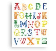 Alphabet Poster Canvas Print
