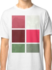 Red Rose Edges Abstract Rectangles 1 Classic T-Shirt