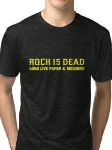 Rock is Dead Long Live Paper and Scissors Tri-blend T-Shirt