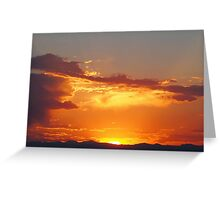 Fiery Sunset over the Rocky Mountains Greeting Card