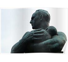 Father and Child, Gustav Vigeland Poster