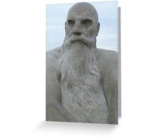 Bearded Man, Gustav Vigeland Greeting Card