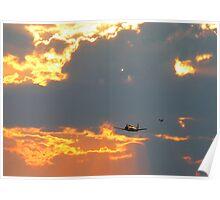T-28 Trojan Trainer Fighter Plane Poster