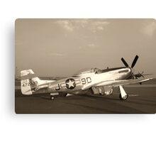 P-51 Mustang Fighter Plane - Classic War Bird Canvas Print
