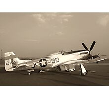 P-51 Mustang Fighter Plane - Classic War Bird Photographic Print