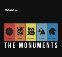 VeloVoices Monuments T-Shirt by VeloVoices