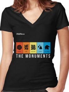 VeloVoices Monuments T-Shirt Women's Fitted V-Neck T-Shirt